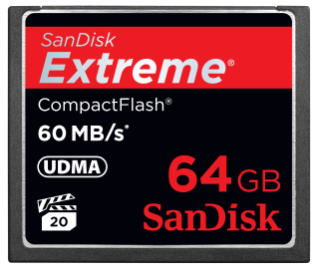 SanDisk Extreme CompactFlash® 記憶卡