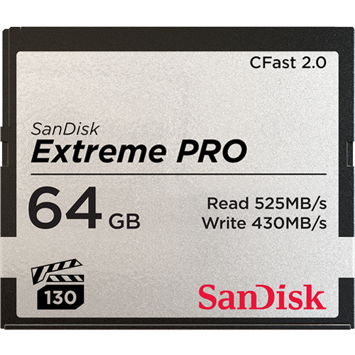 SanDisk Extreme PRO<sup>®</sup> CFast™2.0 記憶卡