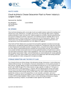 IDC: Cloud Architects Choose Datacenter Flash to Power Industry's Largest Clouds